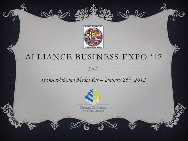 Doral chamber of commerce Alliance Business Expo 2012