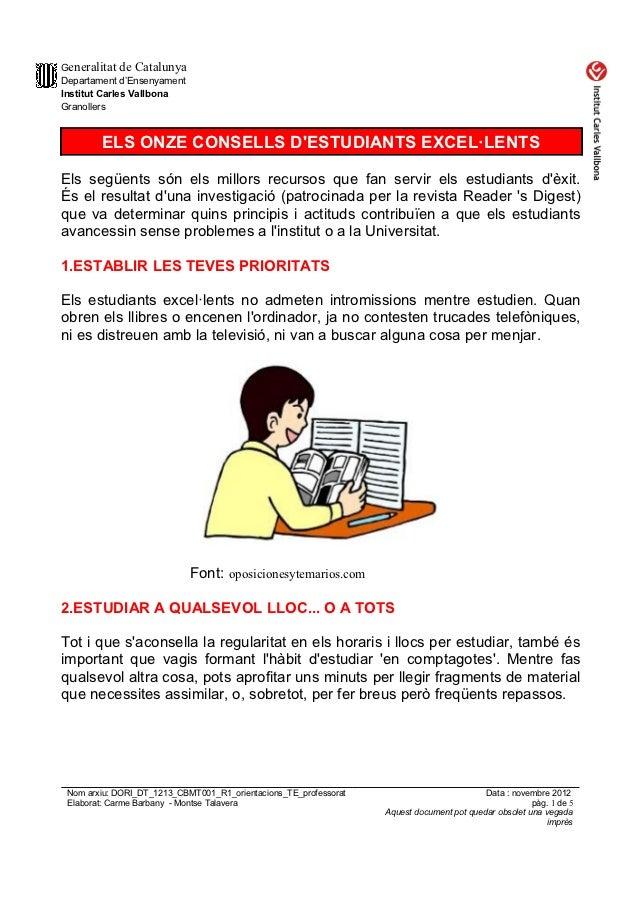 Dori dt 1213_cbmt002_r1_onze_consells_estudiants_excelents