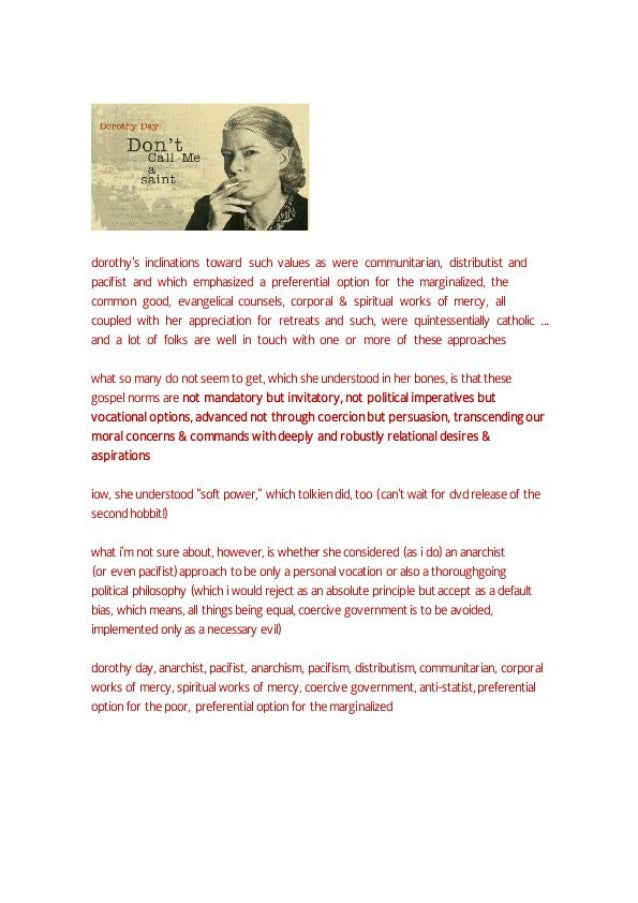 Dorothy day and gospel norms