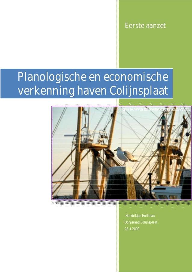 Dorpsvisie Colijnsplaat 1 - planologische en economische verkenning haven colijnsplaat 2009-01-28 v8