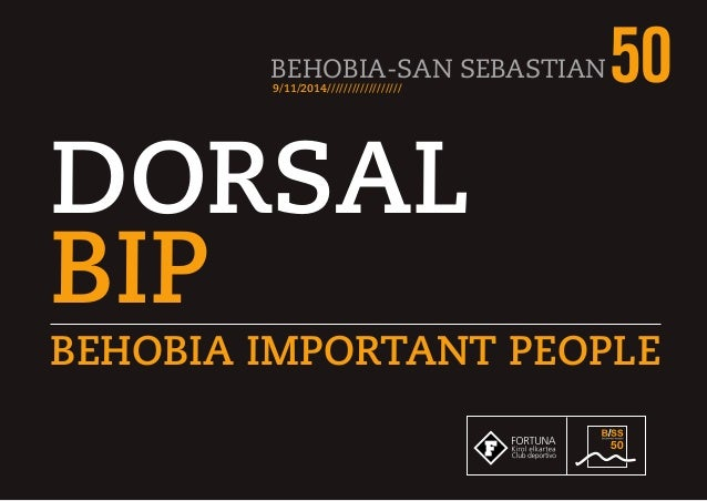 BEHOBIA-SAN SEBASTIAN509/11/2014////////////////// DORSAL BIP BEHOBIA IMPORTANT PEOPLE 50