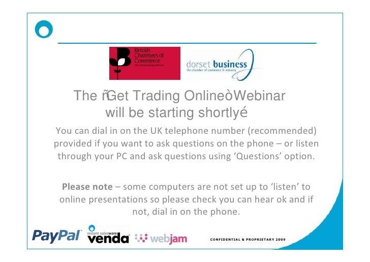 Dorset Chamber   Get Trading Online Slides