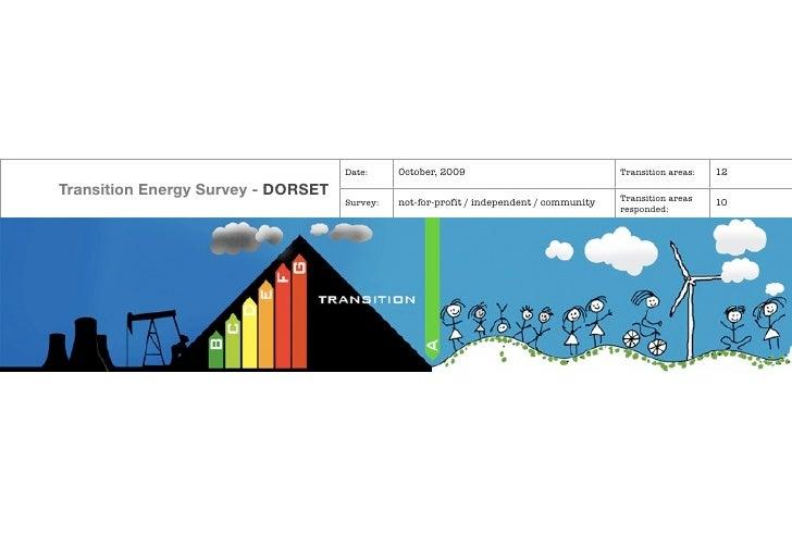 Dorset Transition Energy Survey 2009