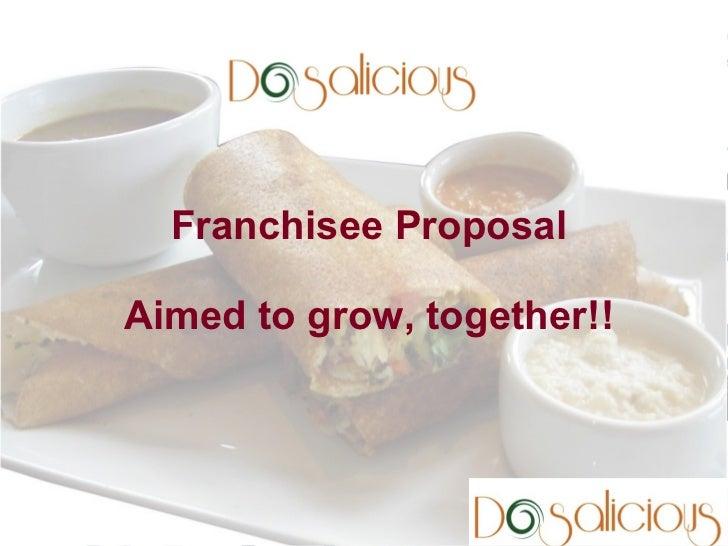 Contact us for more details:Aniruddha M PDosalicious, 30-B, Anjana Comlex,Kalidasa Road, Mysore 57002          Franchisee ...