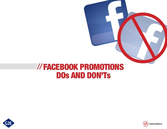 Facebook Promotions Dos And Don'ts