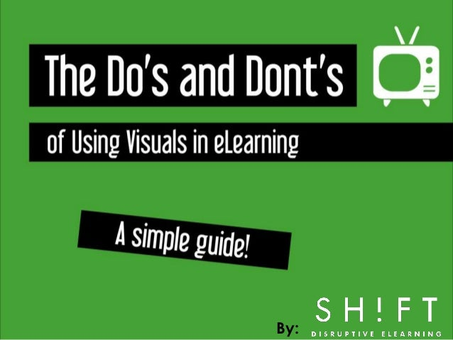 The Do's and Don'ts of Using Visuals in eLearning