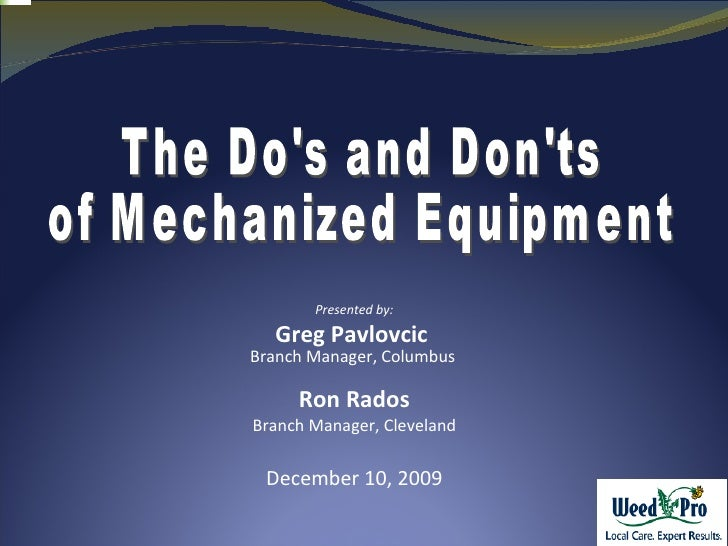 Dos And Donts Of Ride On Equipment