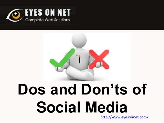Dos and Don'ts of Social Media