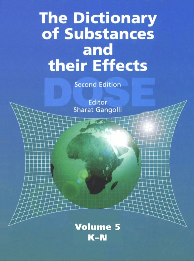 The Dictionary of Substances and Their Effects (DOSE): Volume 05 K–N