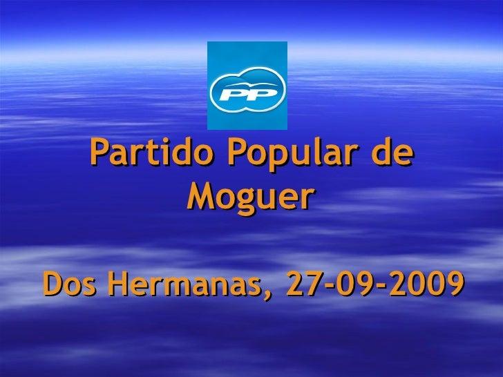 Partido Popular de Moguer Dos Hermanas, 27-09-2009