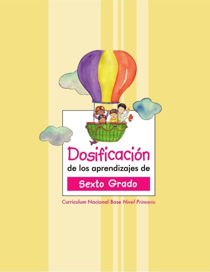Dosificaciones  -sexto_grado