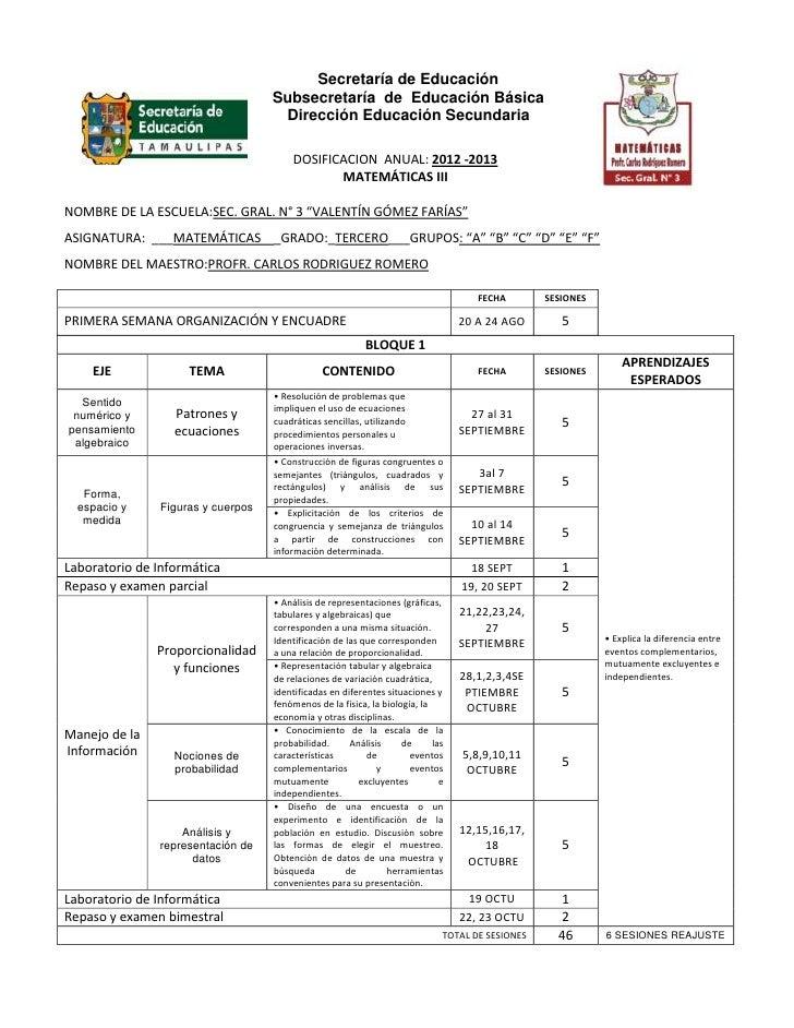Secretaría de Educación                                    Subsecretaría de Educación Básica                              ...