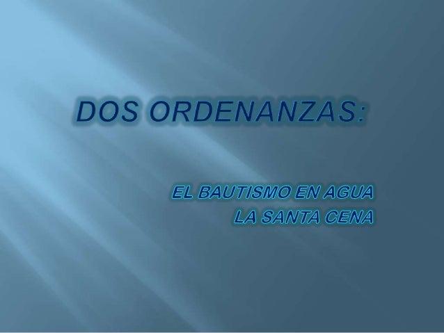 Dos ordenanzas