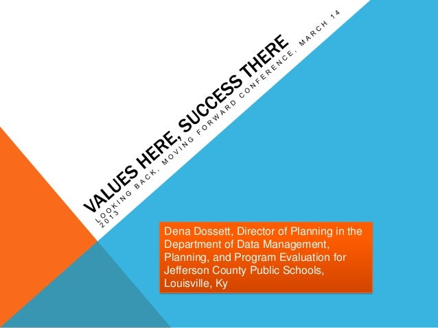 Values Here, Success There: Dena Dossett Presentation