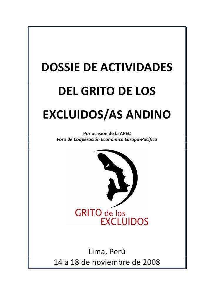 Dossie Actividade Del Grito De Los Excluidos