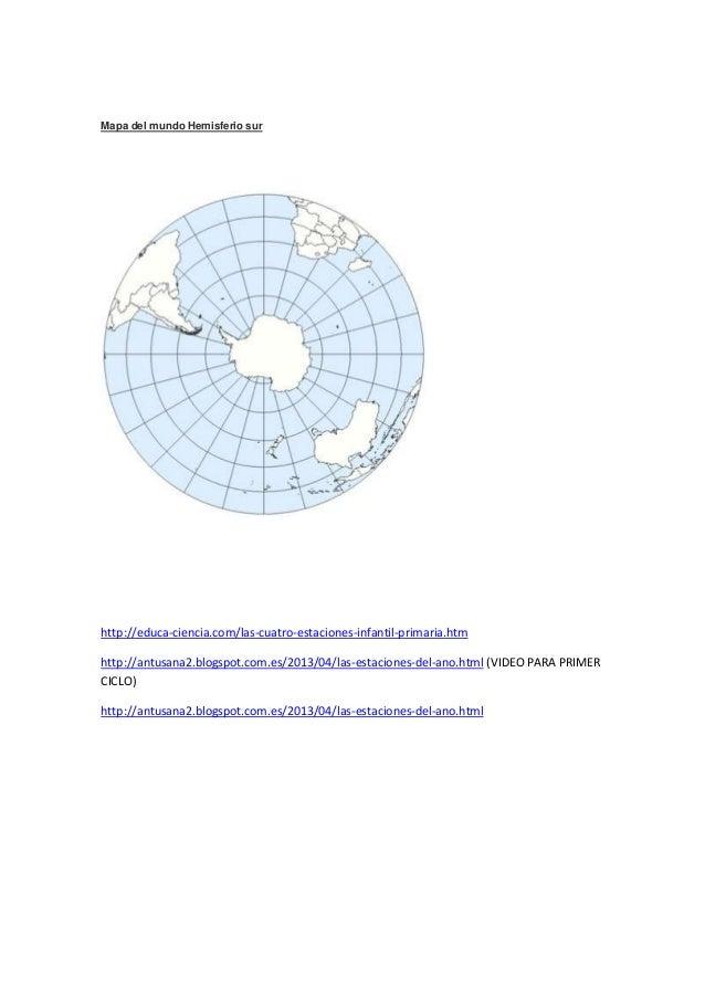 Sur Del Mundo Mapa Del Mundo Hemisferio Sur