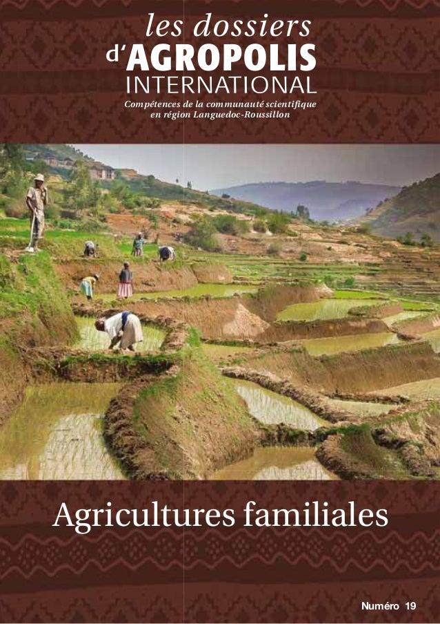 Compétences de la communauté scientifique en région Languedoc-Roussillon  Agricultures familiales Numéro 19