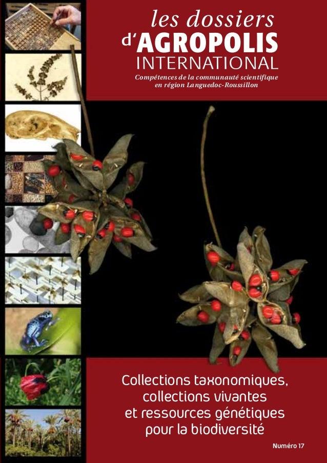 Compétences de la communauté scientifique en région Languedoc-Roussillon  Collections taxonomiques, collections vivantes e...