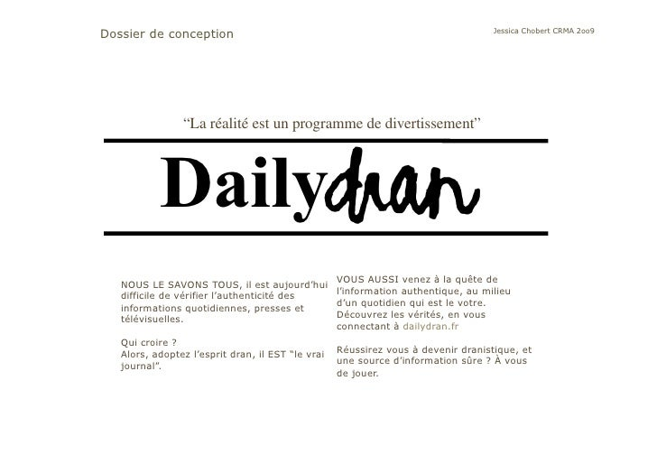 Dossier De Conception Daily Dran Jessica Chobert
