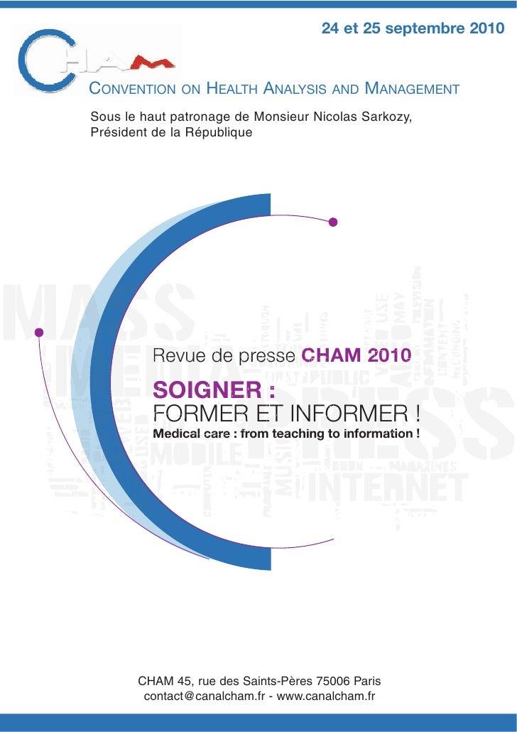 CHAM Dossier de-presse-2010