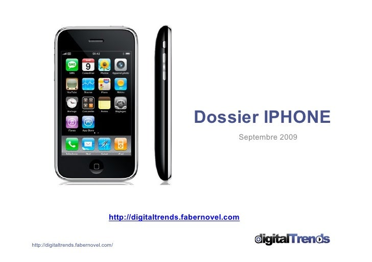 Dossier IPHONE                                                                     Septembre 2009                         ...
