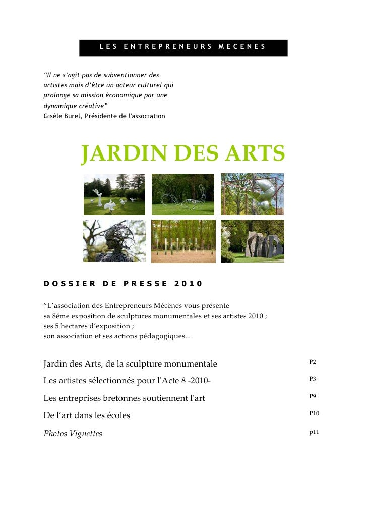 Dossier presse de Jardin des Arts _Acte 8