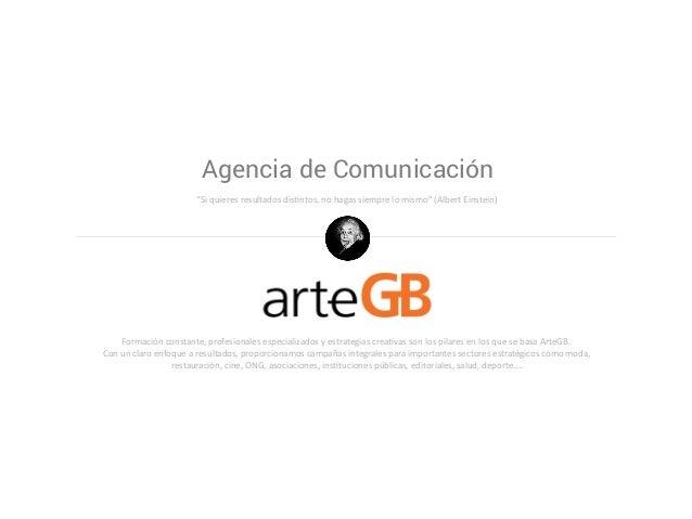 """Agencia de Comunicación """"Si quieres resultados distntos, no hagas siempre lo mismo"""" (Albert Einstein) Formación constante,..."""