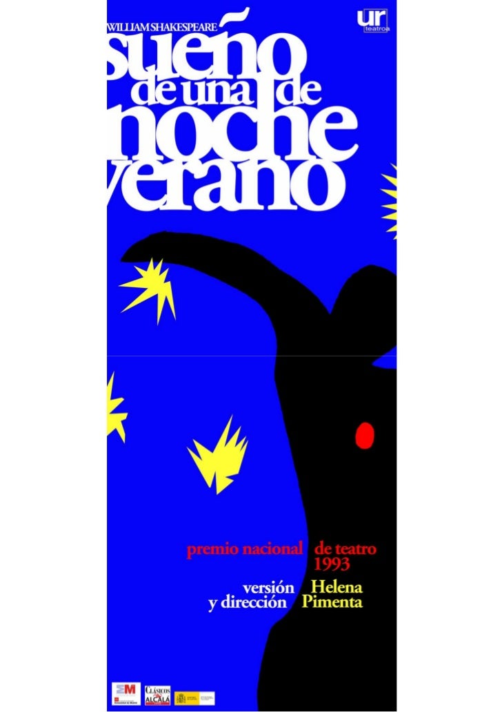 """PRESENTACIONNuestro """"Sueño"""" es una lectura contemporáneade la comedia de S hakespeare en la que elamor, a t ravés de sus d..."""