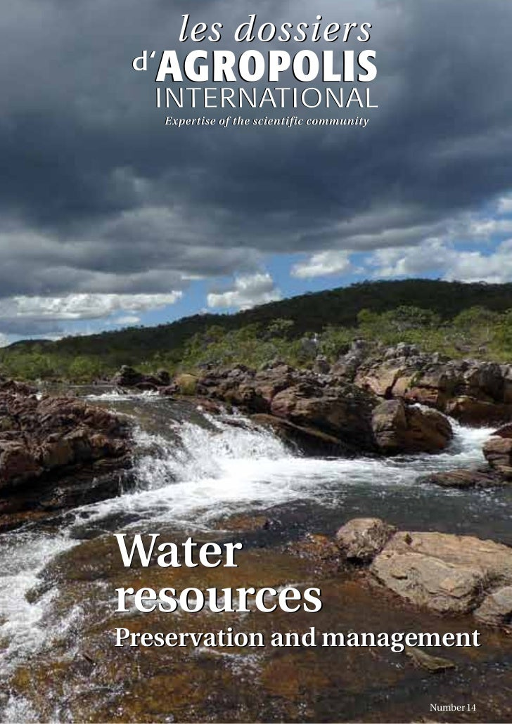 WaterresourcesPreservation and management                       Number 14
