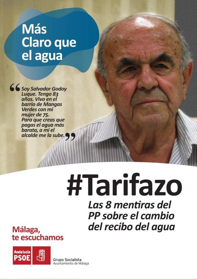 Las ocho mentiras del PP sobre la subida del agua en Malaga por EMASA