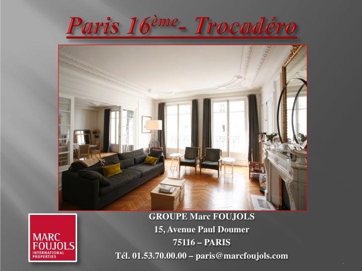 Vente appartement Paris 16 TROCADERO