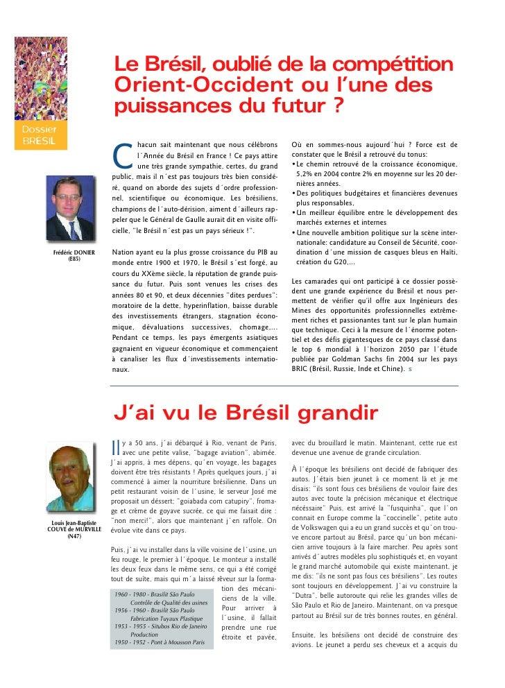 Dossier Brésil Revue des Mines - Mai Juin05