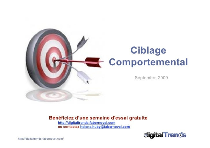 Dossier Ciblage Comportemental digitalTrends Sept09