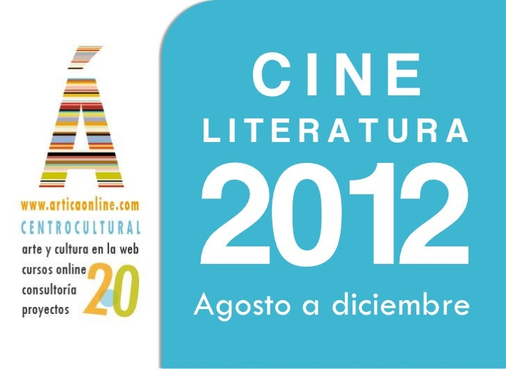 CINELITERATURA2012Agosto a diciembre