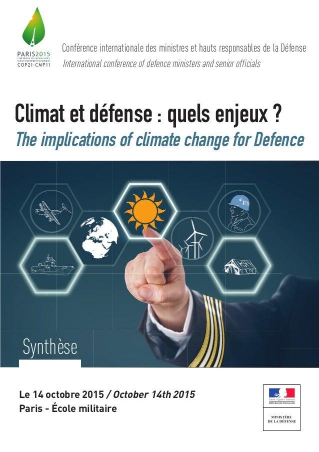 CONFÉRENCE DES NATIONS UNIES SUR LES CHANGEMENTS CLIMATIQUES Conférence internationale des ministres et hauts responsables...
