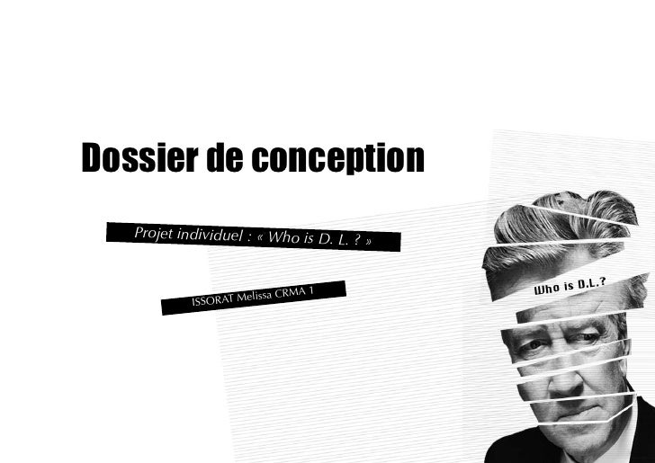 Dossier de conception    Projet individuel : « Who is D. L. ?                                           »                 ...