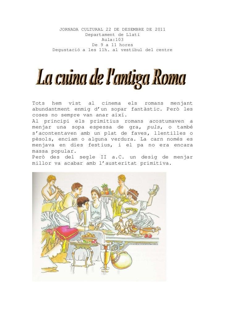 Dossier cuina romana