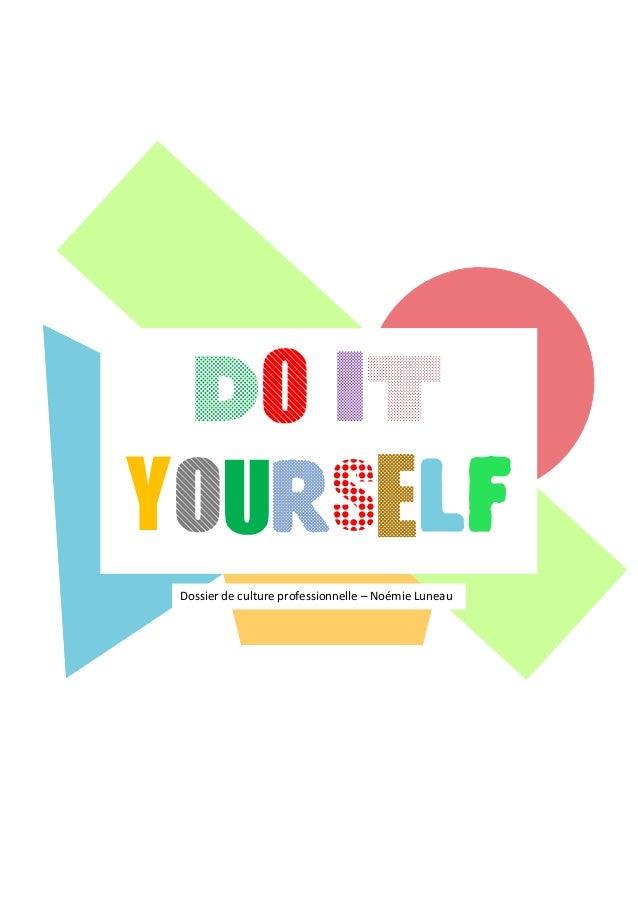 Do it yourself Dossier de culture professionnelle – Noémie Luneau
