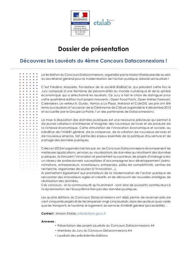 etalab  gouv.fr  Premier ministre SECRÉTARIAT GÉNÉRAL POUR LA MODERNISATION DE L'ACTION PUBLIQUE  Dossier de présentation ...