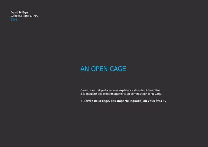 Dossier De Conception Doff An Open Cage