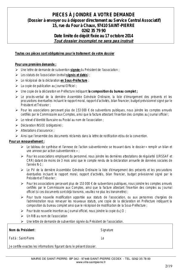 Demande De Budget Lettre Dossier Demande De Subventions Pour Les Associations De
