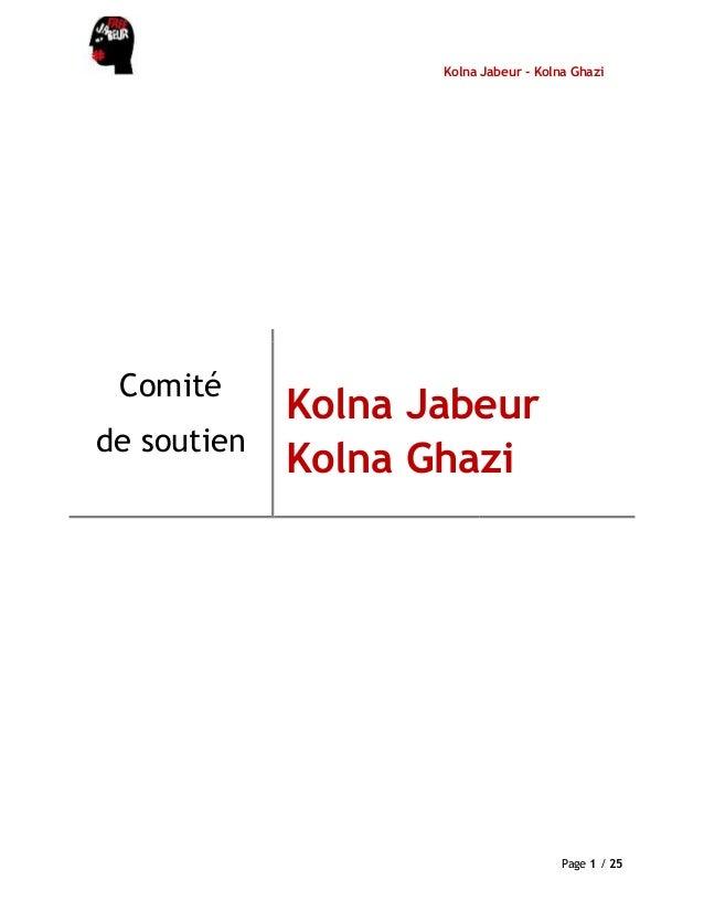Kolna Jabeur - Kolna GhaziPage 1 / 25Comitéde soutienKolna JabeurKolna Ghazi