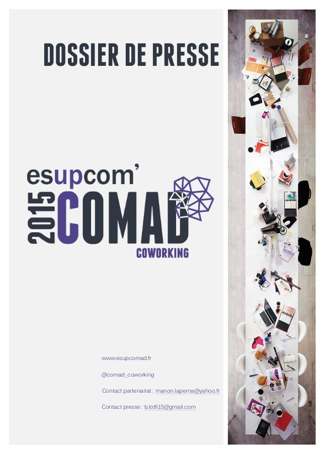 DOSSIERDEPRESSE                                              www.esupcomad.fr @comad_coworki...