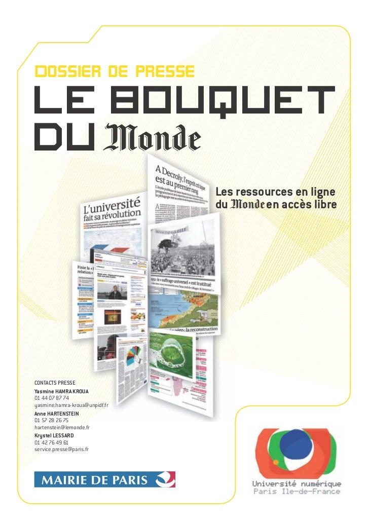 UNPIdF_Lancement du bouquet numérique du journal le Monde