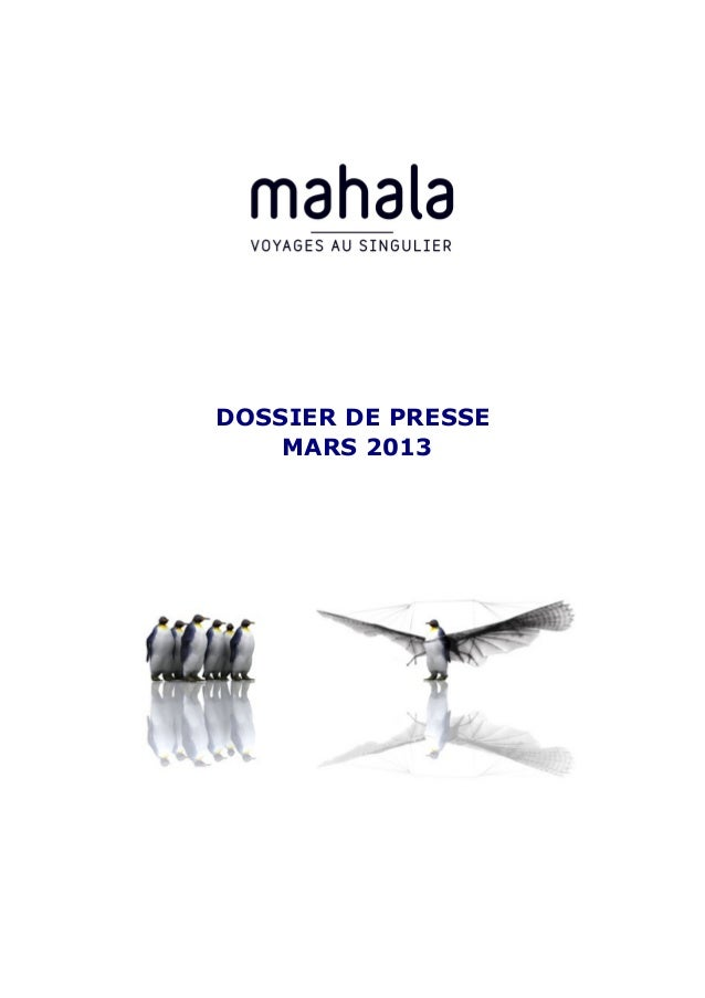 DOSSIER DE PRESSE    MARS 2013