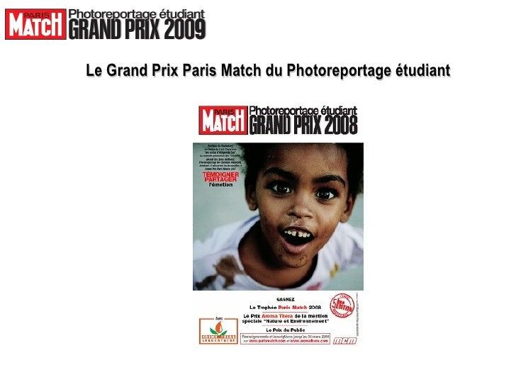 Le Grand Prix Paris Match du Photoreportage étudiant