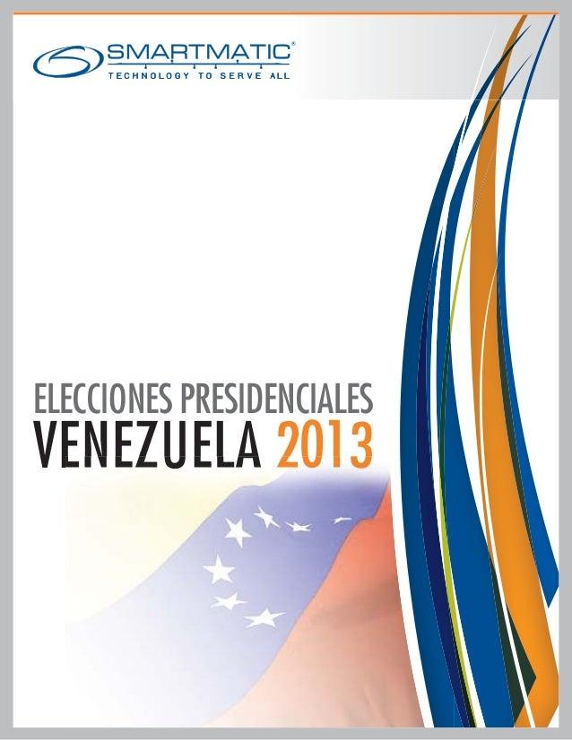 ELECCIONES PRESIDENCIALESVENEZUELA 2013