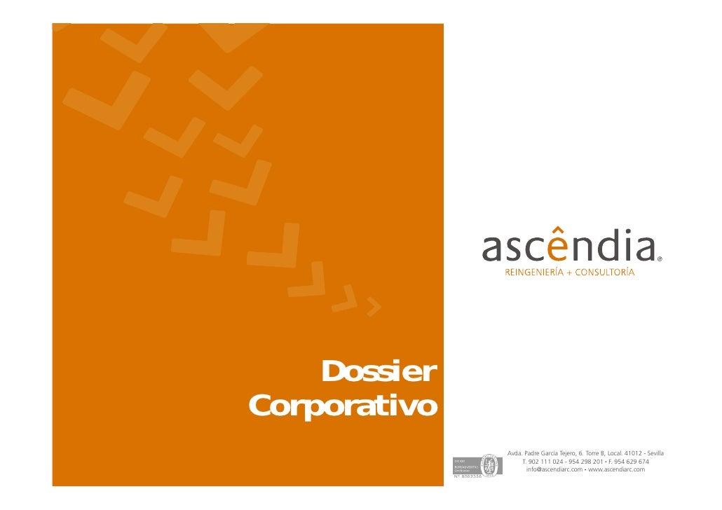 Dossier empresa ascêndia reingeniería + consultoría