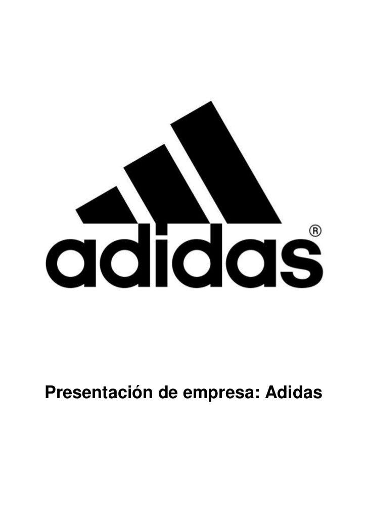 Presentación de empresa: Adidas