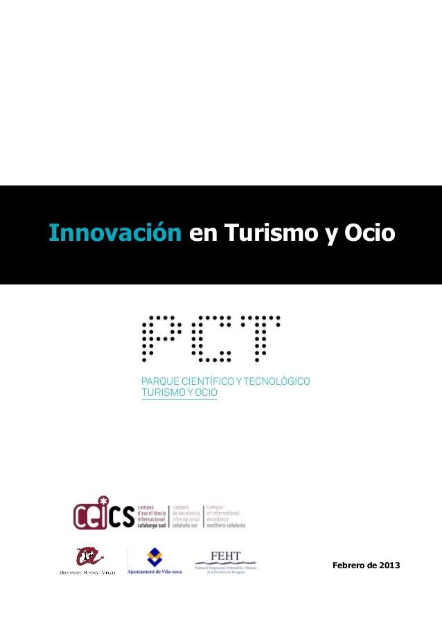 Innovación en Turismo y Ocio  Febrero de 2013